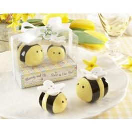 """Mommy and Me...Sweet as Can Bee"" Ceramic Honeybee Salt & Pepper Shakers"