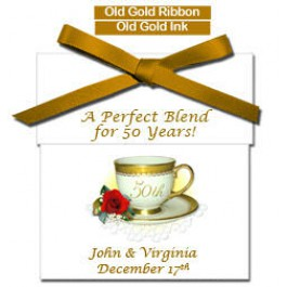 Personalized 50th Anniversary Tea Favor