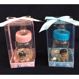 African American Baby Bottle Fillable Favor