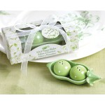 TWINS! Two Peas in a Pod Salt and Pepper Shakers