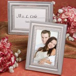 Matte Silver Metal Place Card/Photo Frames