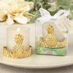 GOLD PINEAPPLE DESIGN VOTIVE CANDLE HOLDER