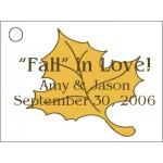 Fall Leaf Favor Card
