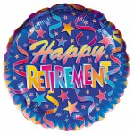 &quot;Happy Retirement!&quot; Metallic Balloons