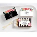 Personalized Black and White Matches (Set of 50) (Kate Spade Inspired)