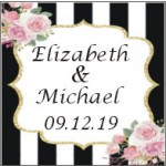 Personalized Kate Spade Inspired Wedding or Bridal Shower Labels (Set of 20)
