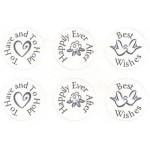 """""""Sealed with a Kiss"""" Mini Chocolate Stickers (880 stickers)"""