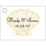 Shell Design Favor Card
