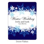 Personalized Bridal Margarita Mix-Snow Flakes