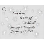 Snowflake Favor Card Non Metallic Silver