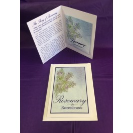 Remembrance Package (set of  50) 3 Piece set (Card, Packet, & Envelope)