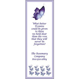 Personalized Memorial Bookmark