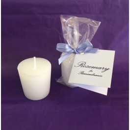 Remembrance Votive Candle Package Sympathy Gift (Rosemary Exclusive!)