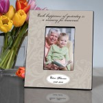 "Personalized ""Each Happiness"" Memorial Picture Frame"