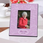 Personalized &quot;In Our Hearts&quot; Memorial Picture Frame (Lavender or Green)