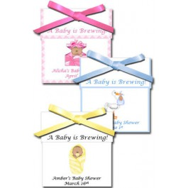 African American Personalized Baby Shower Tea Favors (Rosemary Exclusive!)
