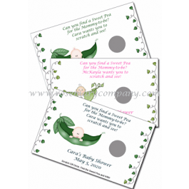 Personalized Pea in a Pod Scratch & Win Game (Set of 12)