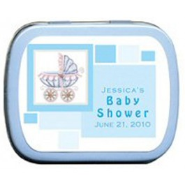 Baby Stroller Baby Shower Mint Tin Favors