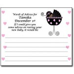 Personalized African American Baby Shower Advice Cards - Stroller Design