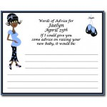 Personalized African American Baby Shower Advice Cards-Mommy-to-be Design