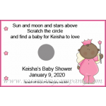 African American Baby Shower Scratch & Win Game - Star Baby