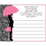 Personalized Fabulous African American Mommy  Advice Cards (Pink or Blue)