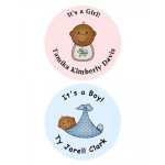 African American It's a Boy / Girl Personalized Baby Shower Buttons (Rosemary Exclusive!)