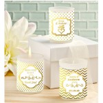 Personalized Gold Foil Candle