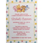 Winnie the  Pooh and Friends Baby Shower Invitations (5x7)