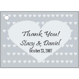 Personalized Heart Design Favor Card