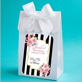 Personalized Kate Spade inspired Shower Boxes With Bows (set of 12)