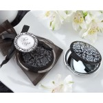 """""""Reflections"""" Elegant Black-and-White Mirror Compact"""