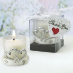 INTERLOCKING SILVER HEART CANDLES