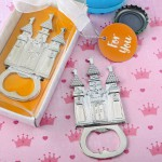 CASTLE THEMED SILVER METAL BOTTLE OPENER
