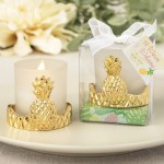 GOLD PINEAPPLE DESIGN VOTIVE CANDLE HOLDER