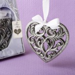 LOVE THEMED HEART SHAPED ORNAMENT