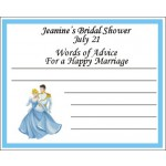 Personalized Cinderella Advice Card
