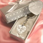 Crystal Heart Key Chain Favor