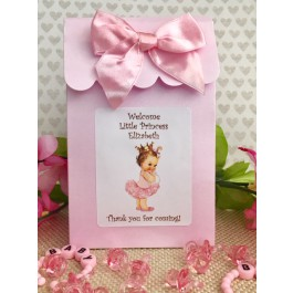 Vintage Little Princess Personalized Candy Boxes (Caucasian/African American)