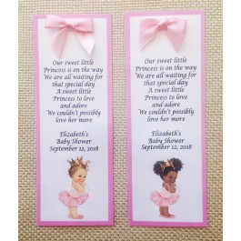 Vintage Little Princess Personalized Bookmark (Caucasian or African American)