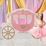 Pink Provincial Carriage Standee