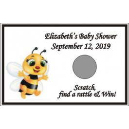 Personalized Baby Bee Scratch Off Game (Set of 12)