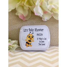 Personalized Baby Bee Mint Tins (Set of 12) 3 Colors