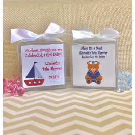 Personalized Nautical Candle Boy or Girl