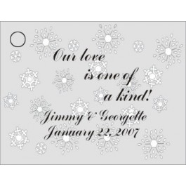 Snowflake Favor Card Non Metallic Silver