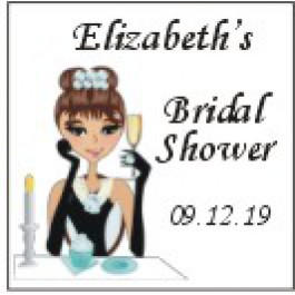 Personalized Breakfast at Tiffany's Labels Caucasian/African American (Set of 20)