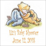 Baby Pooh or Classic Pooh & Friends Square Label (Set of 20)