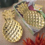 WARM WELCOME COLLECTION GOLD PINEAPPLE DISH