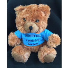 """""""Unlimited Hugs"""" Comfort Bear with Tee Shirt Sympathy Gift"""