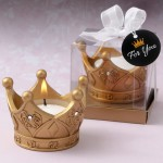 Royal Gold Crown Tealight Candle